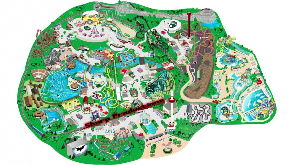 Six Flags Great America (Interactive Map!) - Youtube - Six Flags Great America Printable Park Map