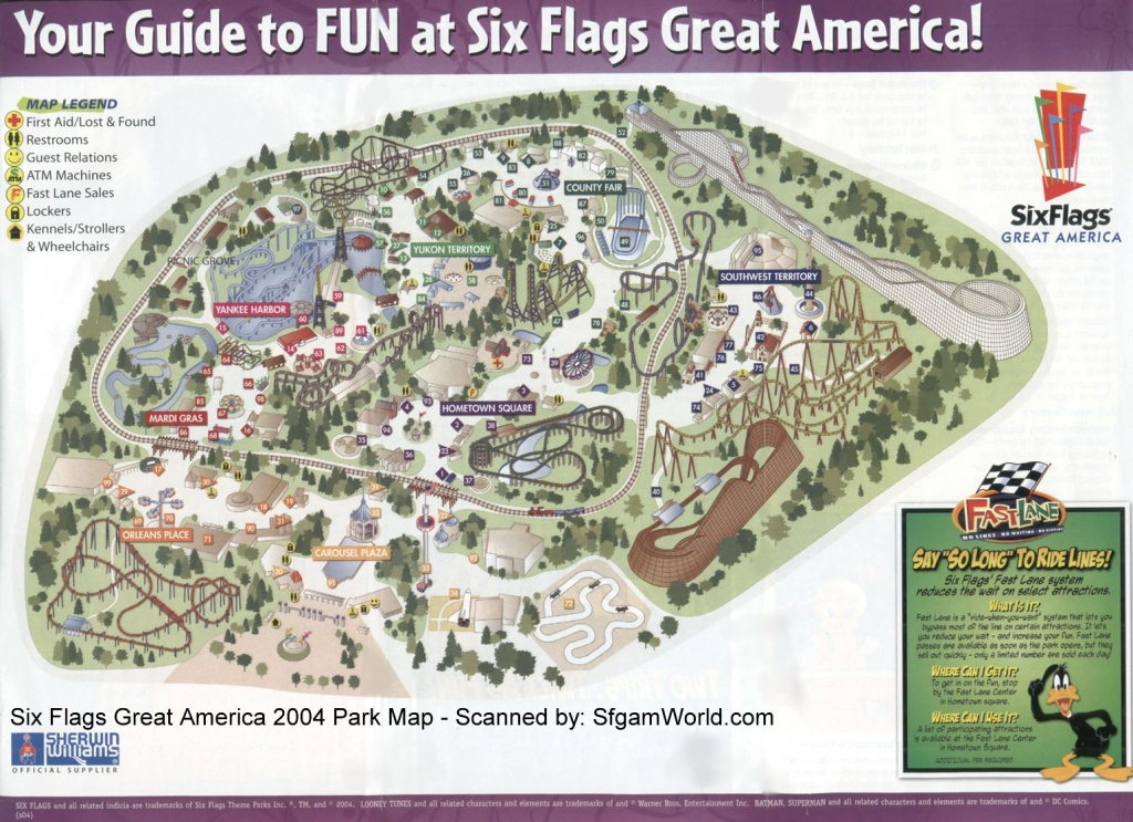 Six Flags Great America Map | Nicegalleries - Six Flags Great America Printable Park Map