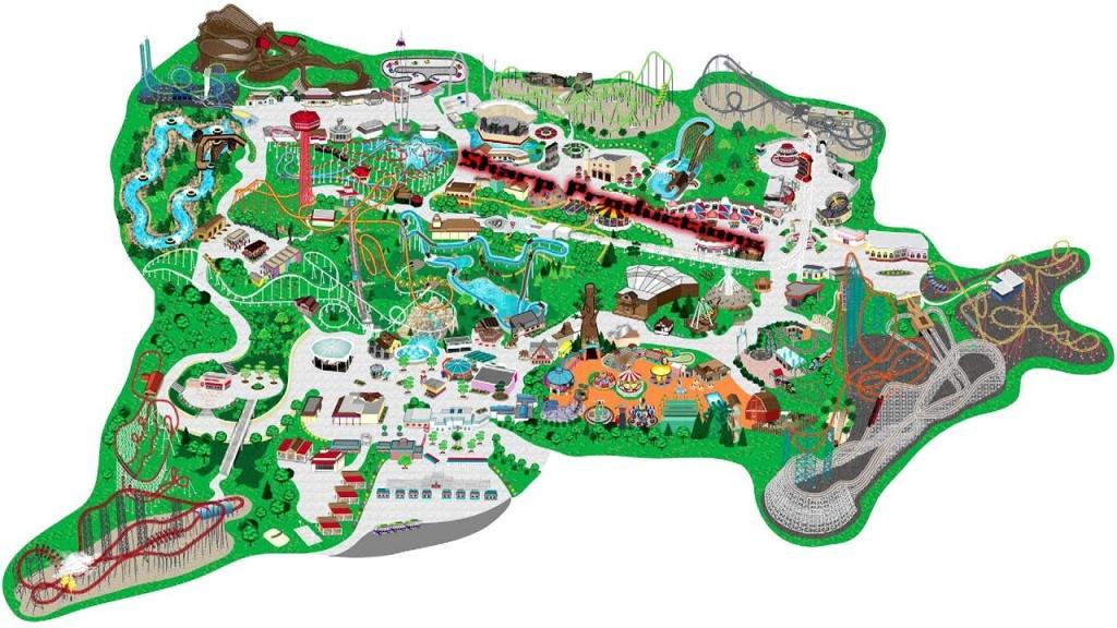 Six Flags Magic Mountain (Interactive Map!) - Six Flags Map California 2018
