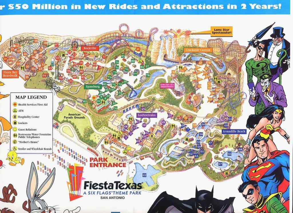 Six Flags Over Texas Map New Fiesta History Of 16 | Sitedesignco - Six Flags Fiesta Texas Map 2018