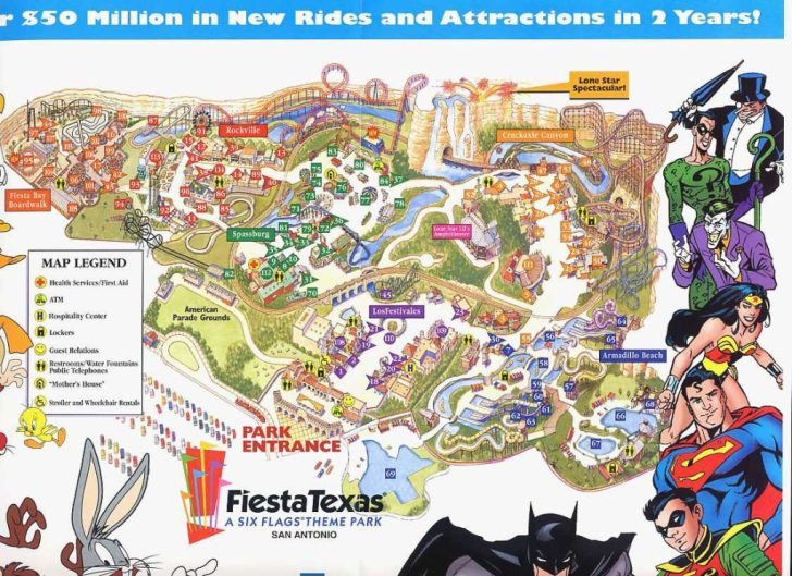 Six Flags Over Texas Map App