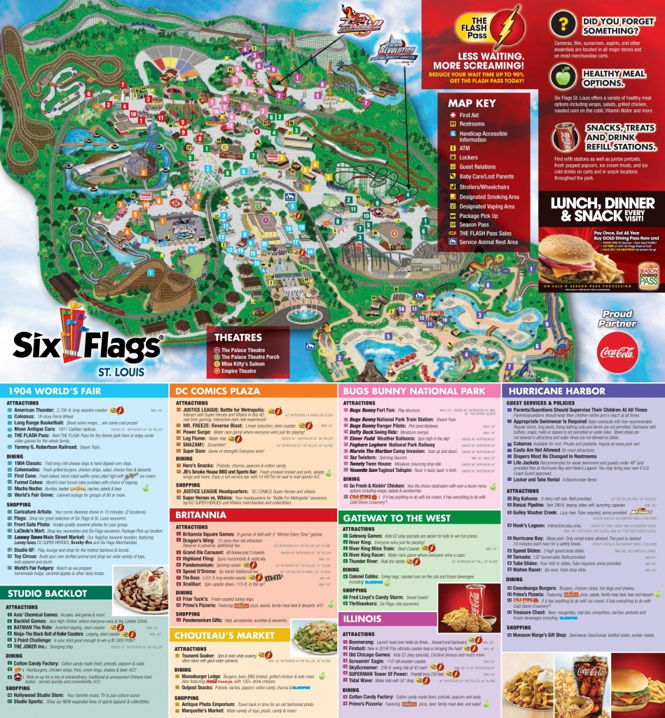 Six Flags St. Louis Park Map - Six Flags New England Map Printable