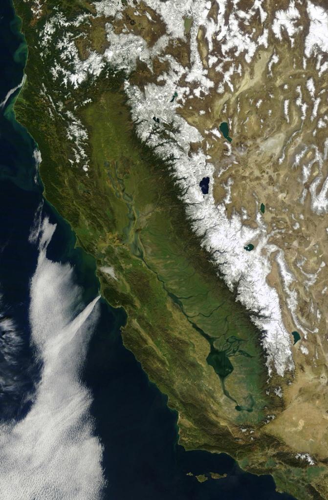 Six Strange Maps Of California | Kcet - Live Satellite Map California