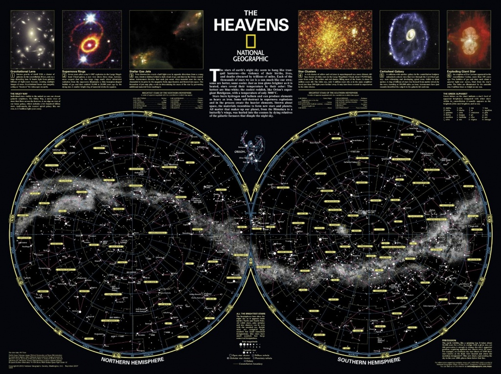 Skymaps - Publication Quality Sky Maps & Star Charts - Florida Night Sky Map