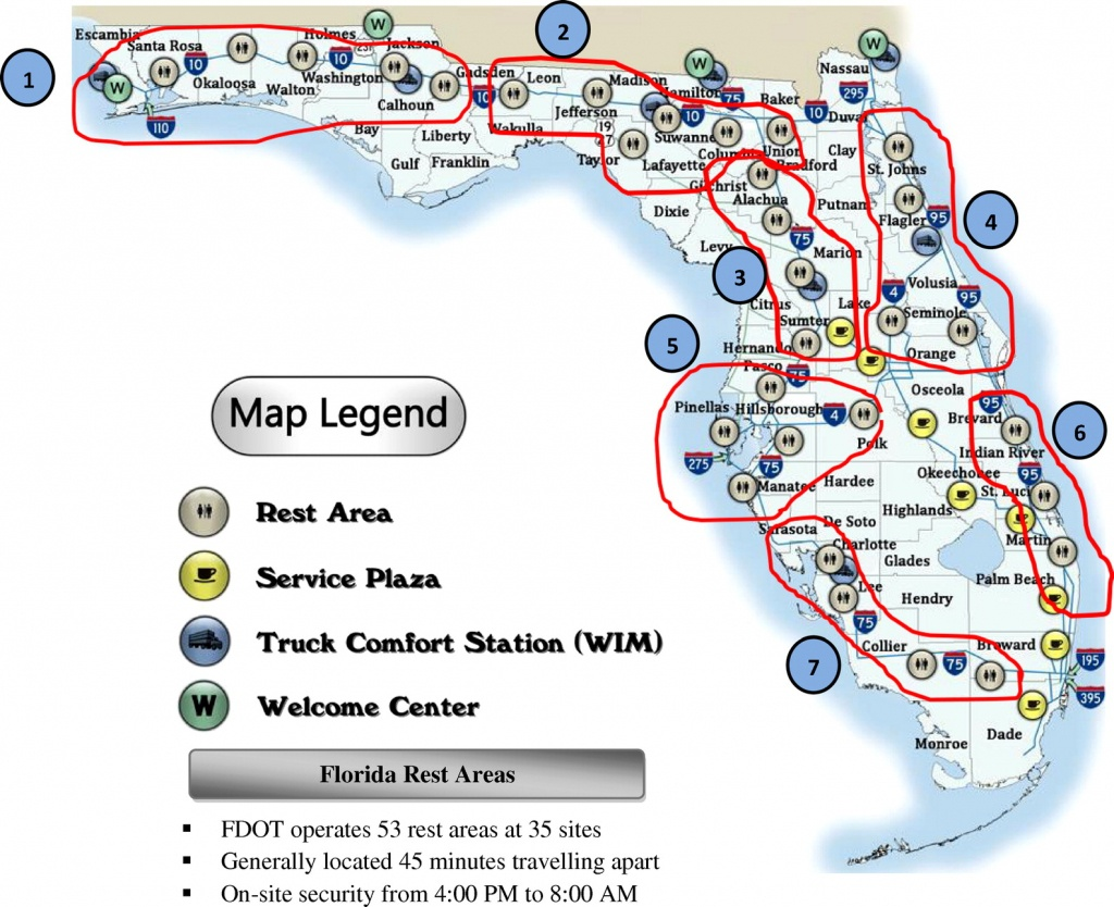 Smart Parking-Management System For Commercial Vehicle Parking At - Florida Rest Areas Map