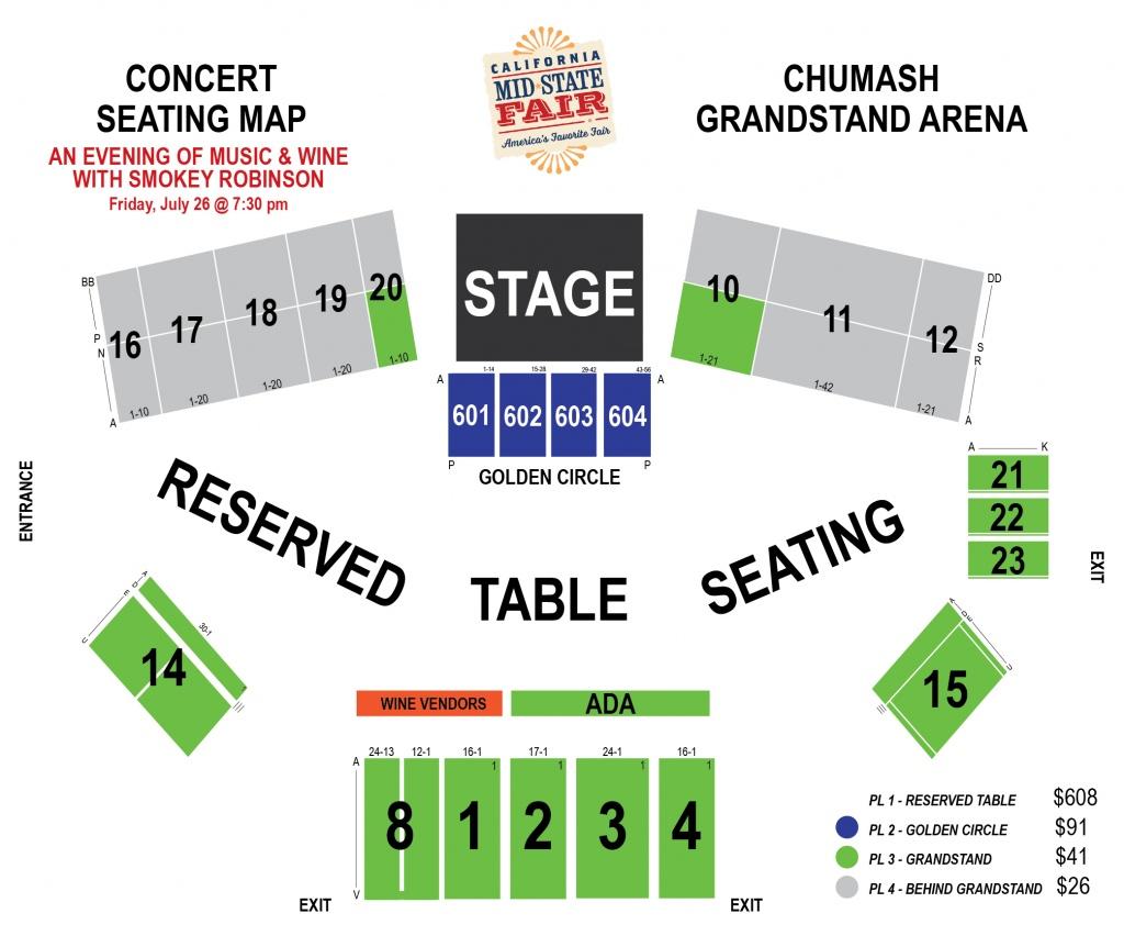 Smokey Robinson - (An Evening Of Music & Wine) | Ticketswest - California Mid State Fair Map