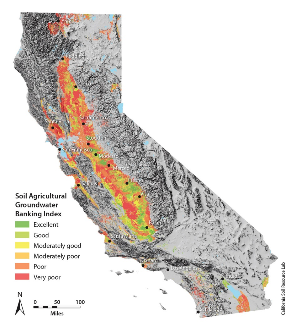 Soil Suitability Index Identifies Potential Areas For Groundwater - California Soil Map
