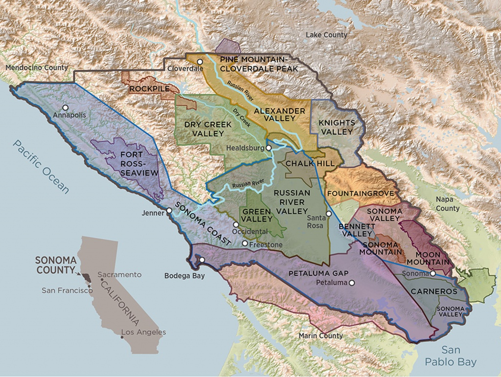 Sonoma County Terroir | A Guide To Sonoma County's 17 Avas - California Wine Ava Map