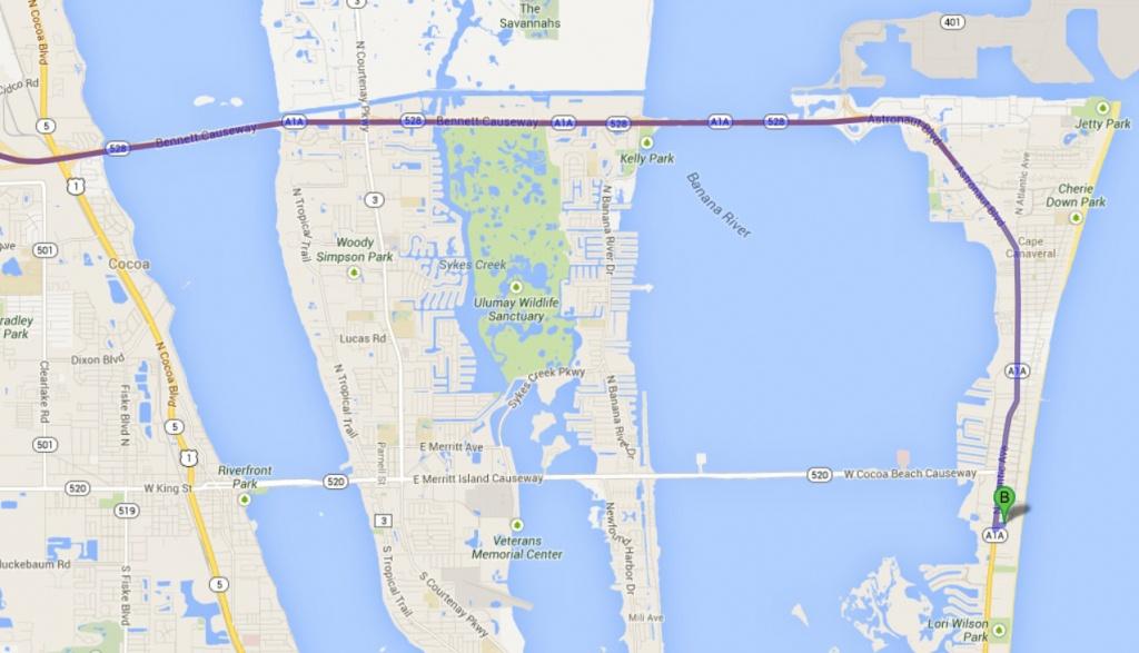 Sorce » Transportation / Maps - Cocoa Beach Florida Map