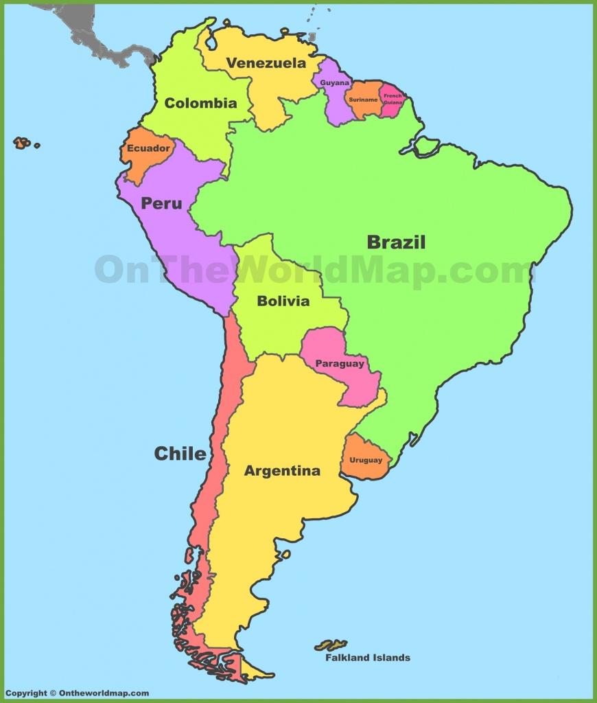 South America Maps | Maps Of South America - Ontheworldmap - Printable Map Of South America
