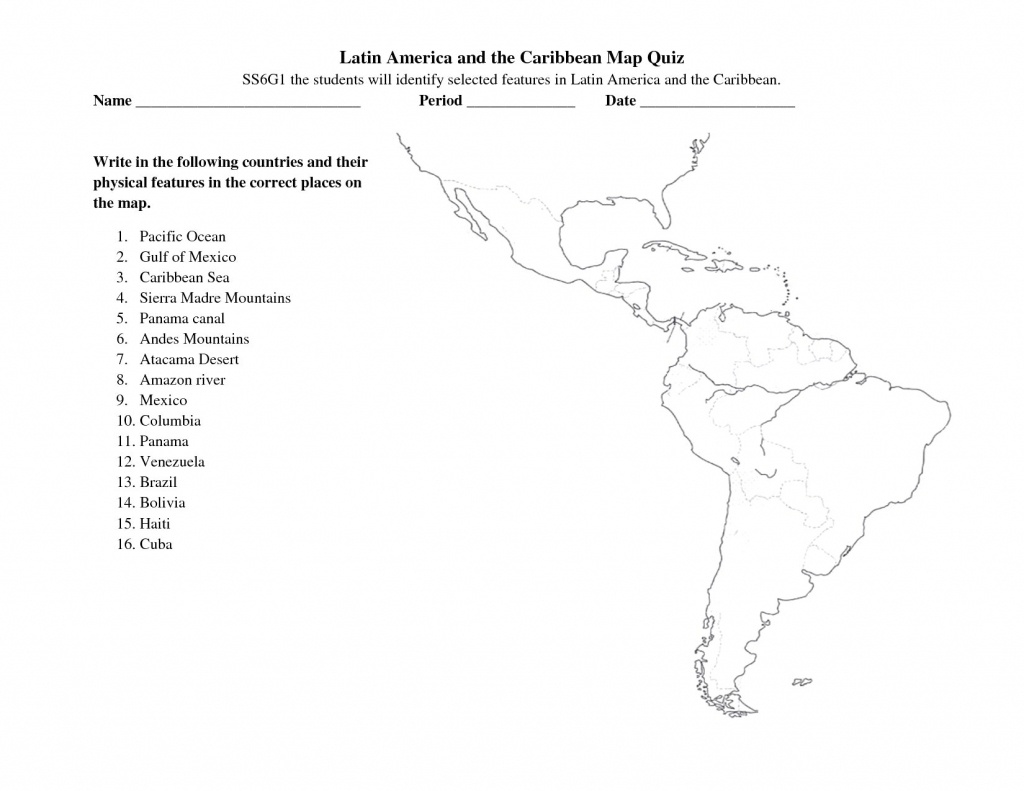 South And Central America Map Quiz Free Printable Maps Within 8 - Central America Map Quiz Printable