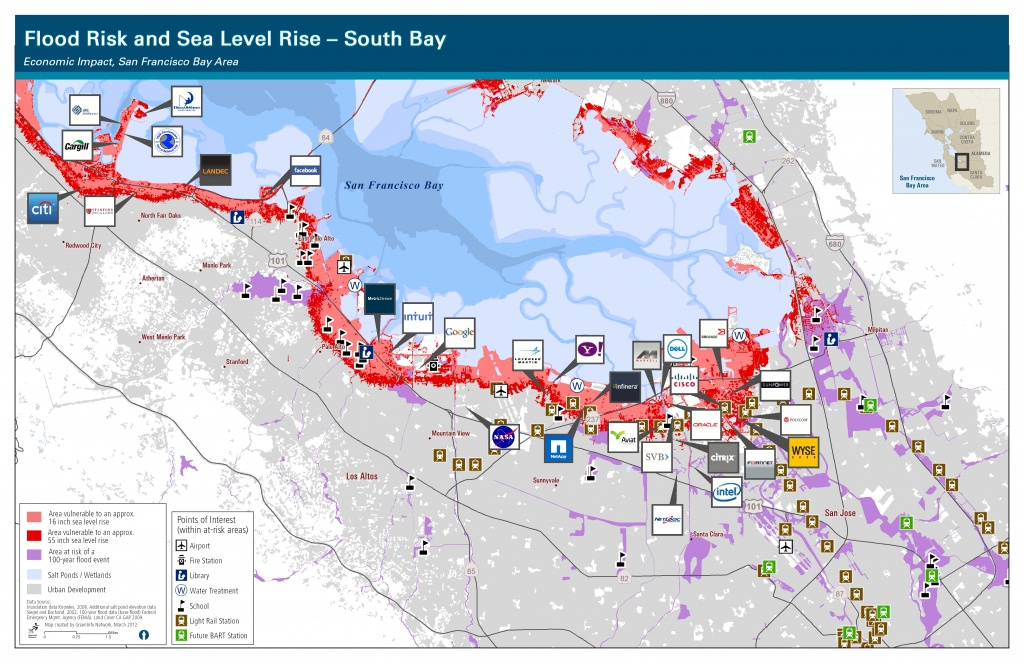South Bay Shoreline - Visuals - California Sea Level Rise Map