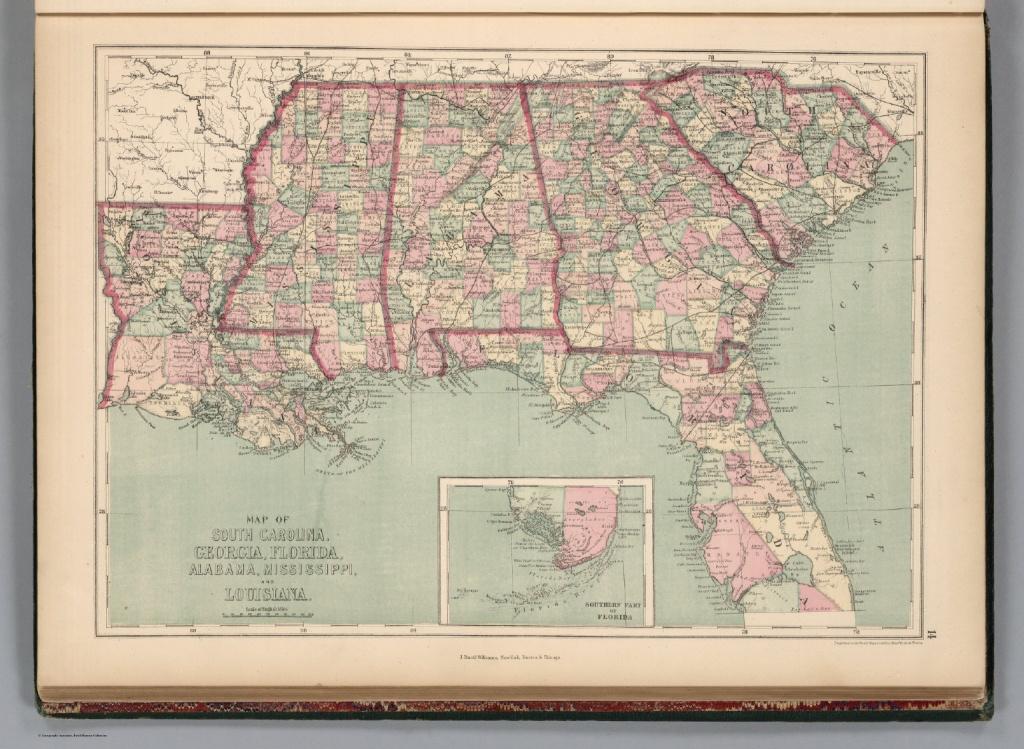 South Carolina, Georgia, Florida, Alabama, Mississippi, And - Mississippi Florida Map