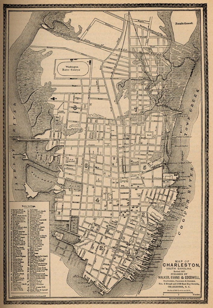 South Carolina Maps - Perry-Castañeda Map Collection - Ut Library Online - Printable Map Of Charleston Sc Historic District