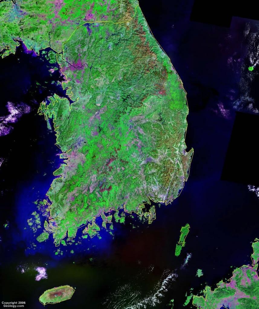 South Korea Map And Satellite Image - Satellite Map Of Florida