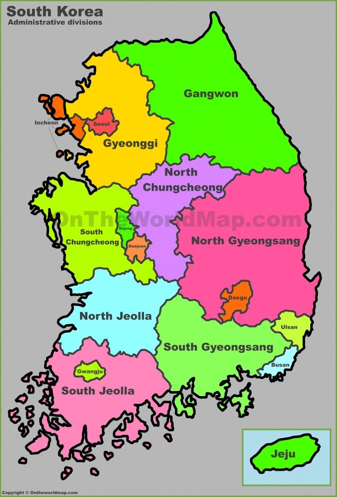 South Korea Maps | Maps Of South Korea (Republic Of Korea) - Printable Map Of Korea