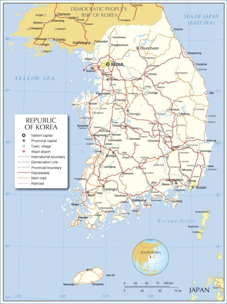 South Korea Maps | Printable Maps Of South Korea For Download - Printable Map Of Korea