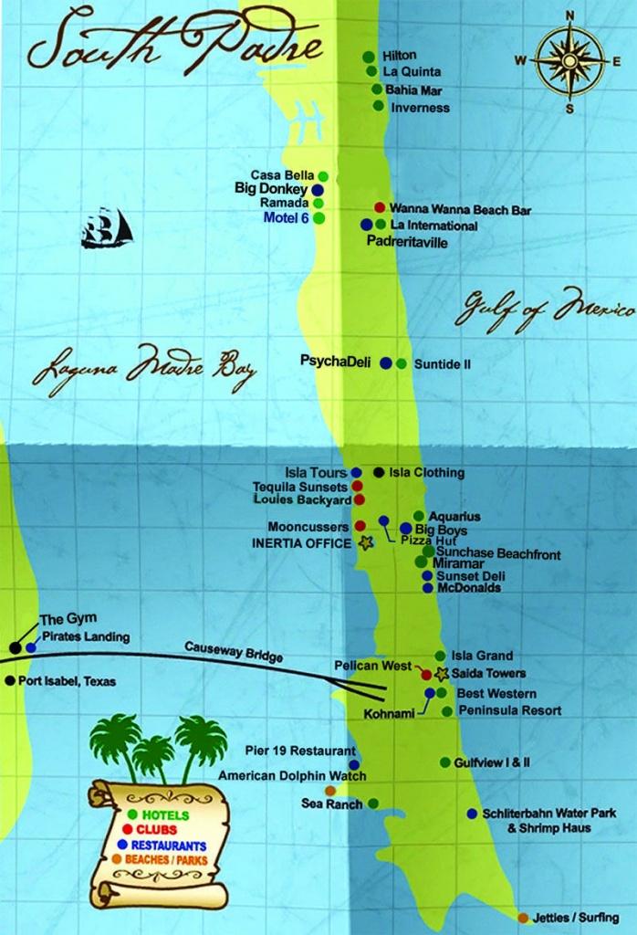 South Padre Island Map | South Padre Island Hotels South Padre - Texas Padre Island Map