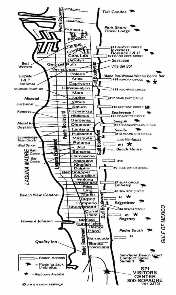 South Padre Island Street Map - South Padre Island Texas • Mappery - Texas Padre Island Map