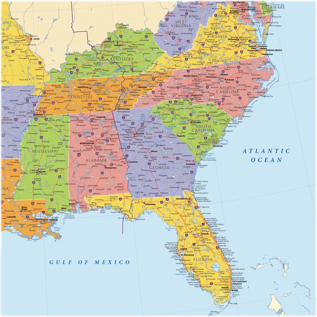 Southeast 17 Map Of Southeast Us | Ageorgio - Printable Map Of Southeast Us