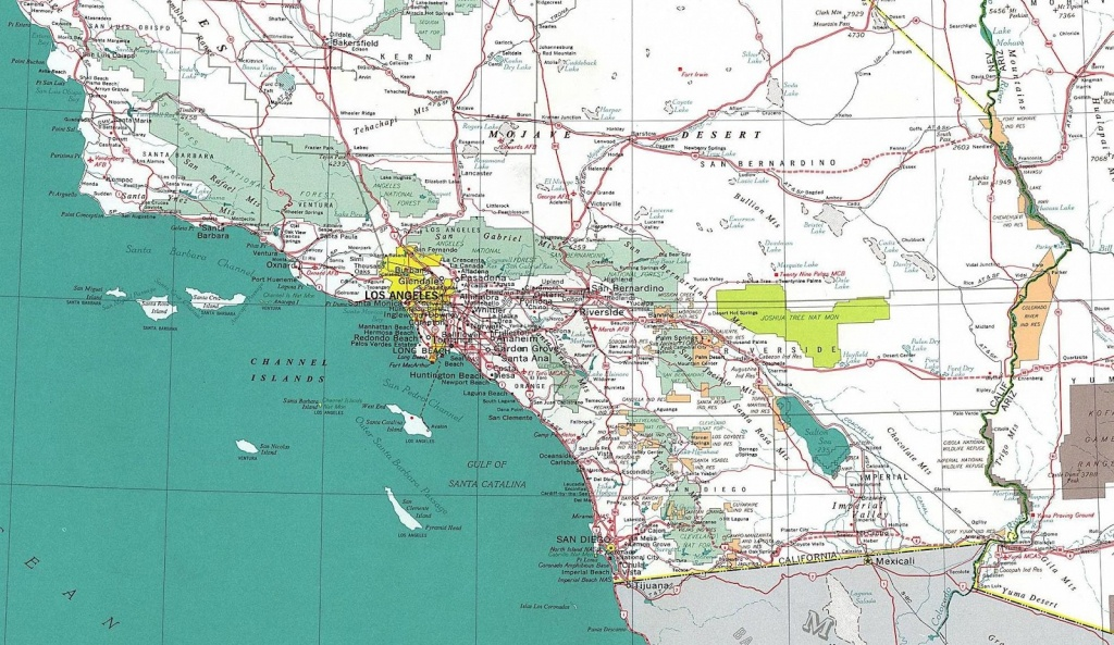 Southern California County Map With Cities And Travel Information - Map Of Southern California Cities