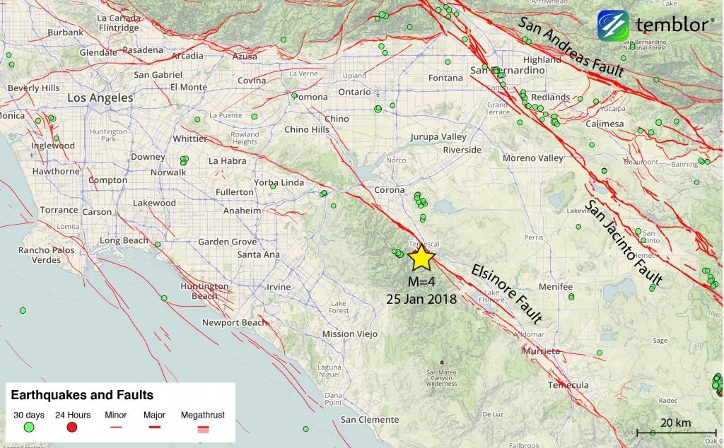 Southern-California-Earthquake-Map – Temblor - Map Of Southern California