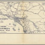 Southern California Highway Map.   David Rumsey Historical Map   Historical Maps Of Southern California