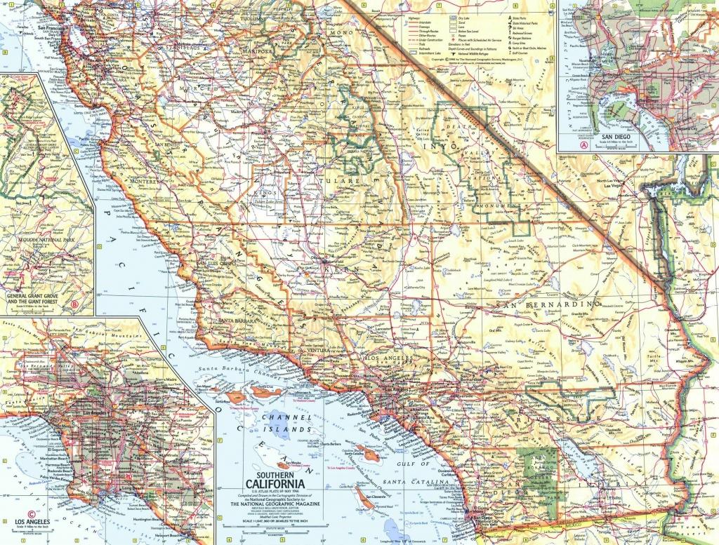 Southern California Map 1966 - California Atlas Map