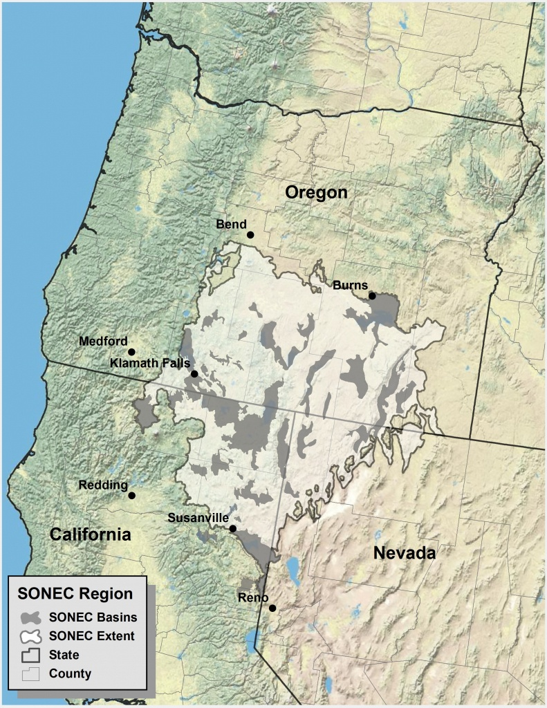 Southern Oregon Northeastern California Maps | Intermountain West - Map Of Oregon And California
