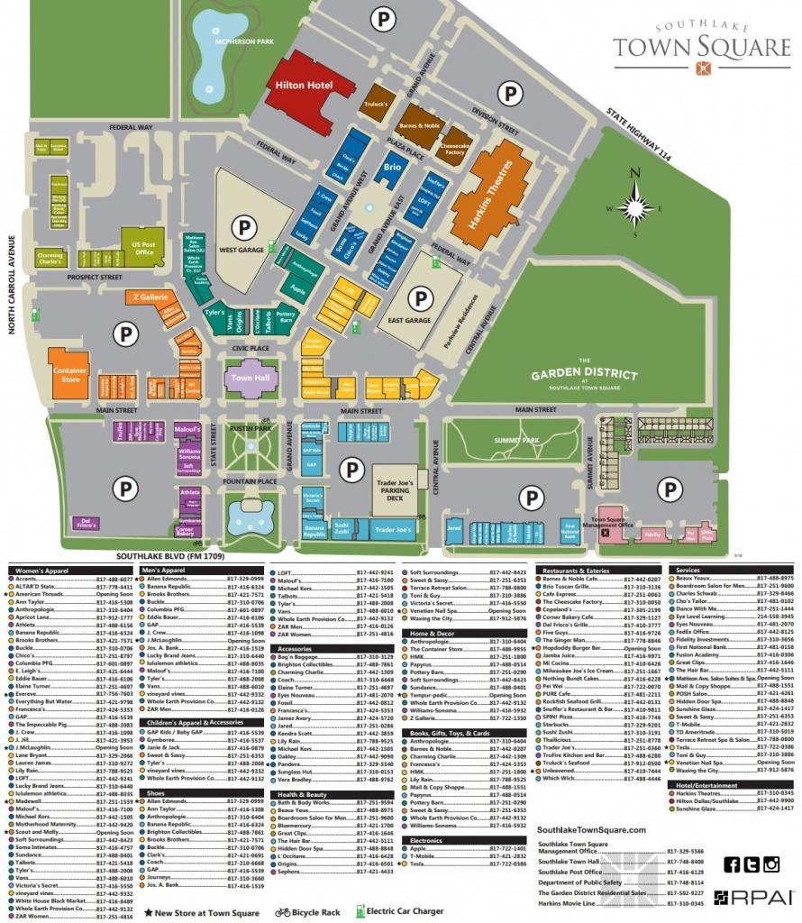 Southlake Town Square (126 Stores) - Shopping In Southlake, Texas Tx - Southlake Texas Map