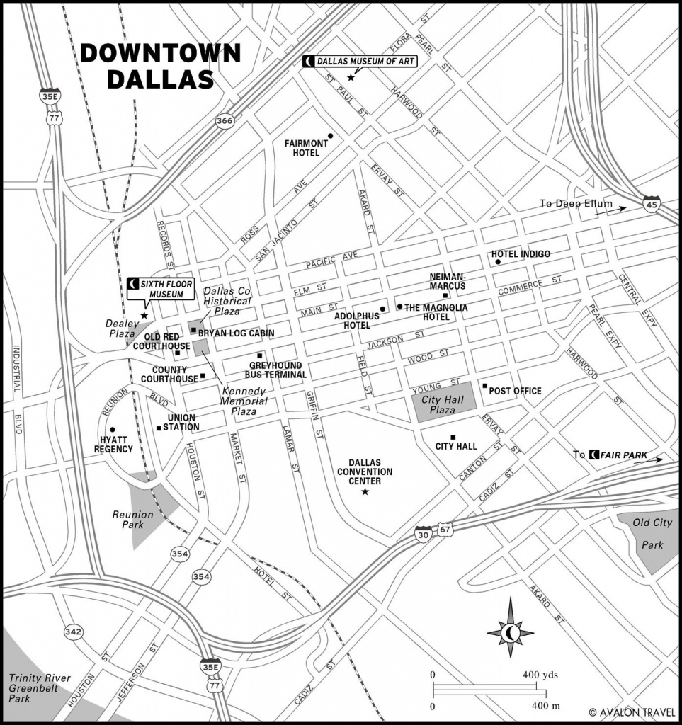 Southwest And Texas   Maps   Dallas Map, Map, Texas Travel - Map Of Downtown Dallas Texas