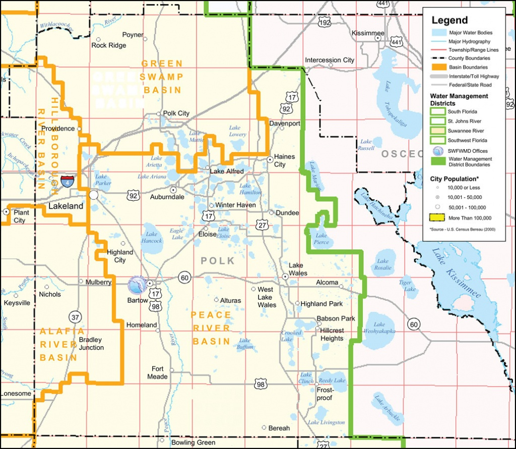 Southwest Florida Water Management District- Polk County, September - Lake Alfred Florida Map