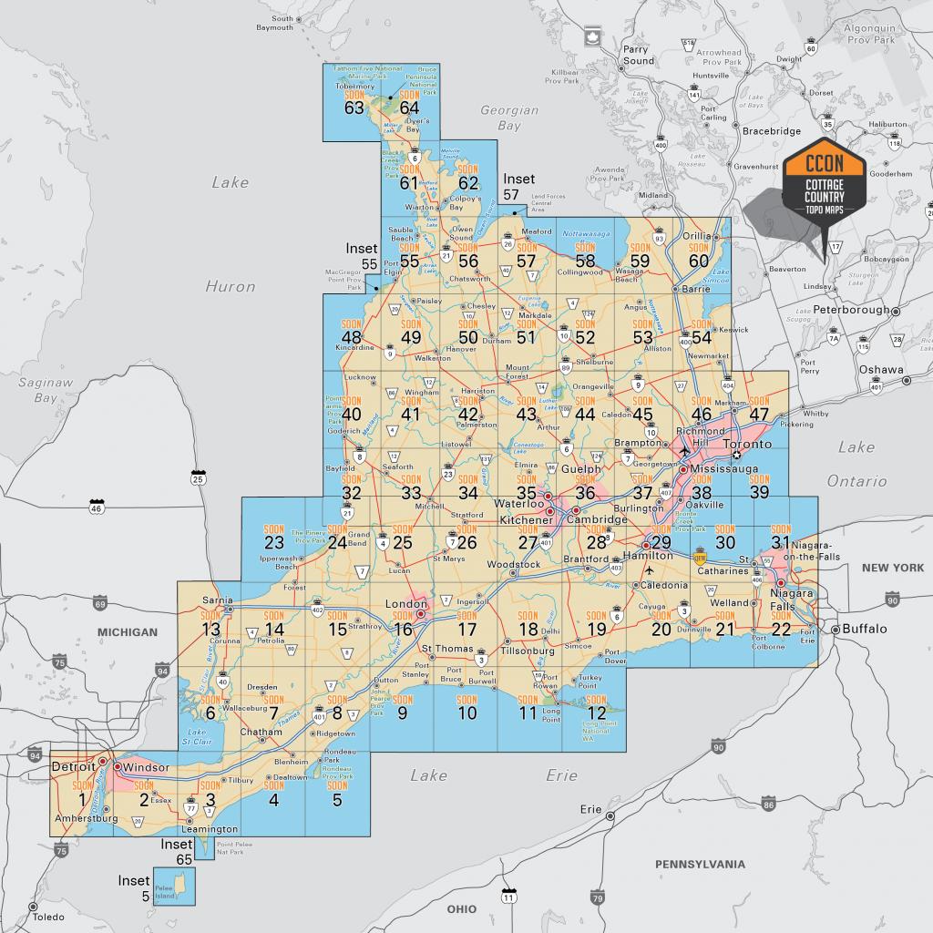 Southwestern Ontario - Printable Map Of Western Canada