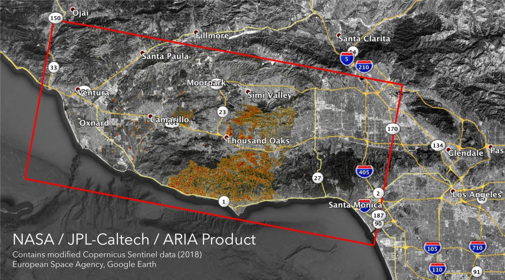 Space Images | Nasa's Aria Maps California Fire Damage - Map Of California Fire Damage