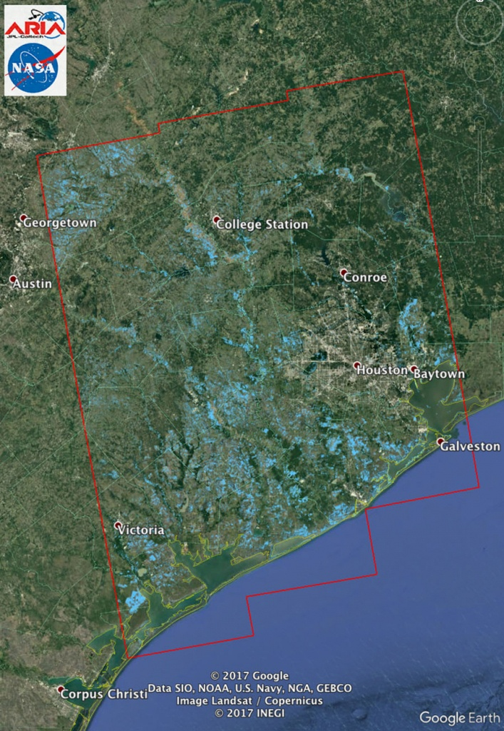 Space Images | New Nasa Satellite Flood Map Of Southeastern Texas - Conroe Texas Flooding Map