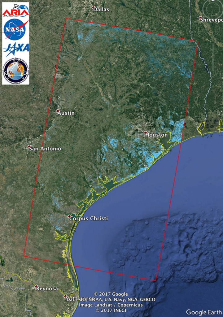 Space Images | Updated Nasa Satellite Flood Map Of Southeastern - Satellite Map Of Texas
