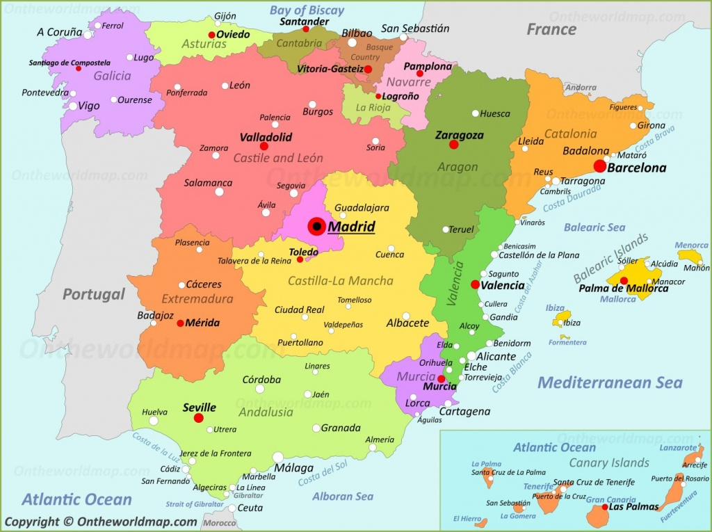 Spain Maps | Maps Of Spain - Printable Map Of Spain