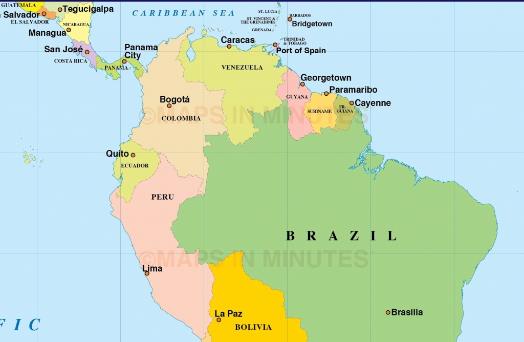 Spanish Speaking Countries And Their Capitals South America Best Of - Printable Map Of Spanish Speaking Countries