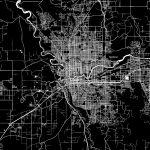 Spokane, Washington, Downtown Map, Dark | Hebstreits Sketches   Downtown Spokane Map Printable