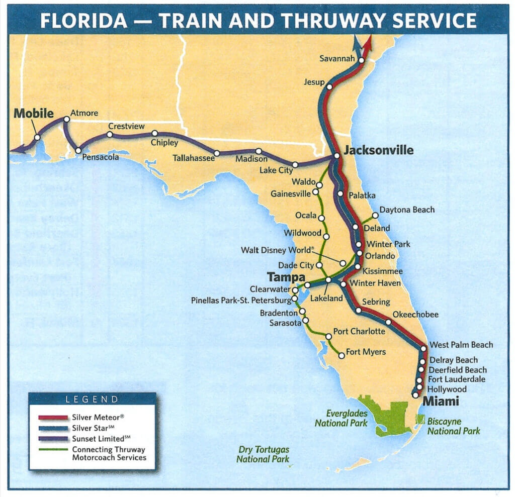 Sportscar Worldwide | Sebring Travel - Amtrak Florida Route Map