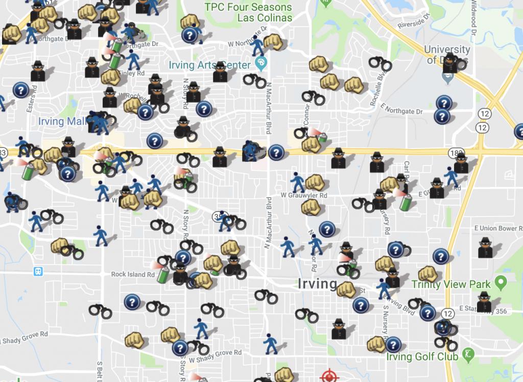 Spotcrime - The Public's Crime Map - Texas Crime Map