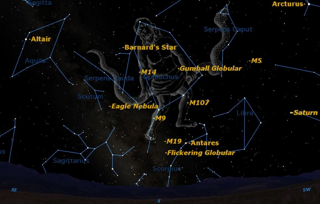 Spotted! A Rarely Seen Constellation Shines This Summer   Space - Southern California Night Sky Map