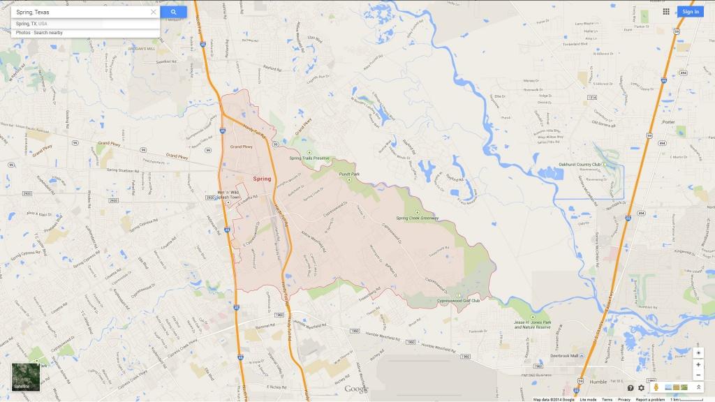 Spring Texas Map - Spring Texas Map