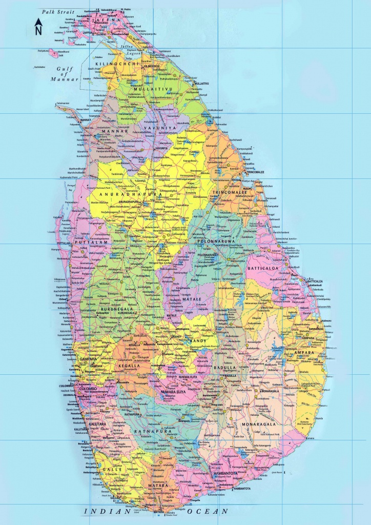 Sri Lanka Maps | Printable Maps Of Sri Lanka For Download - Printable Map Of Sri Lanka