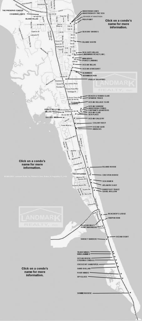 St Augustine Fl Real Estate Investment Condominium Map - Florida Real Estate Map