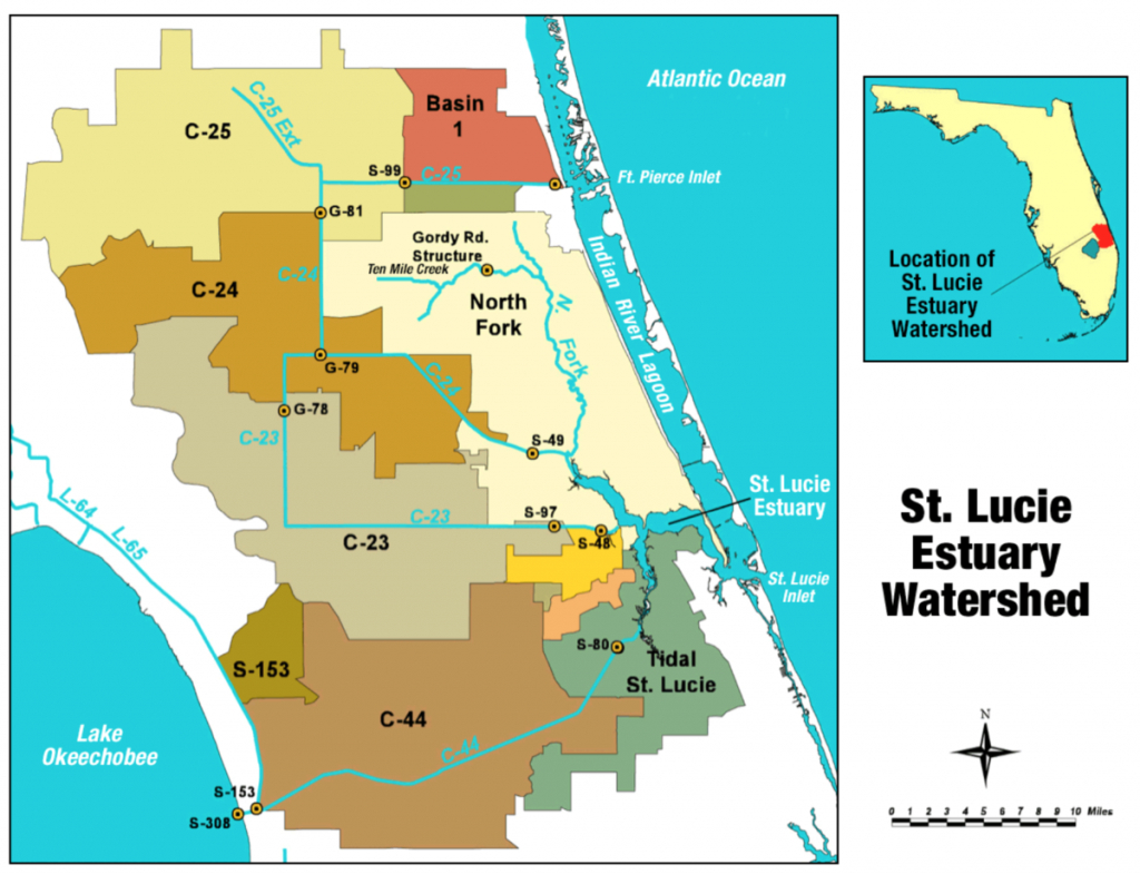 St. Lucie River - Wikipedia - Florida Watershed Map