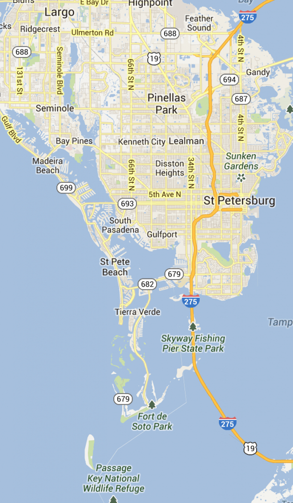 St. Pete Beach And Pass-A-Grille Florida | St Petersburg Clearwater - Naples Florida Beaches Map