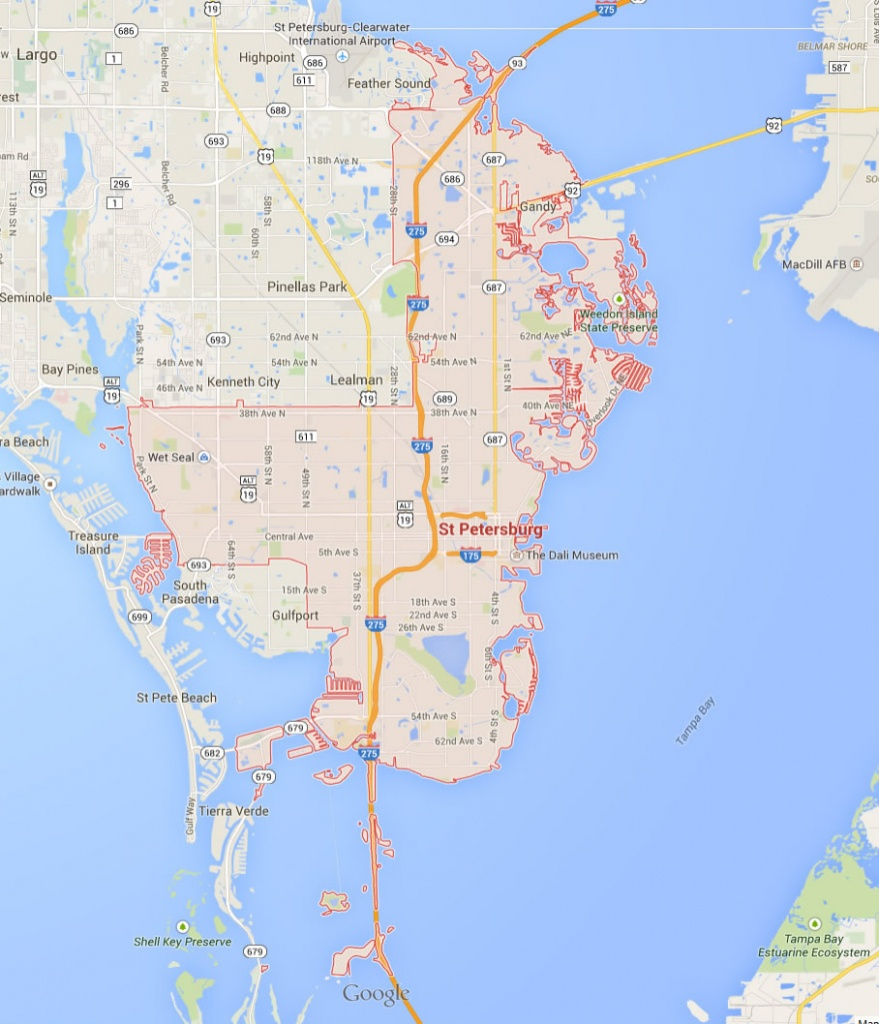 St. Petersburg Florida Map - City Map Of St Petersburg Florida