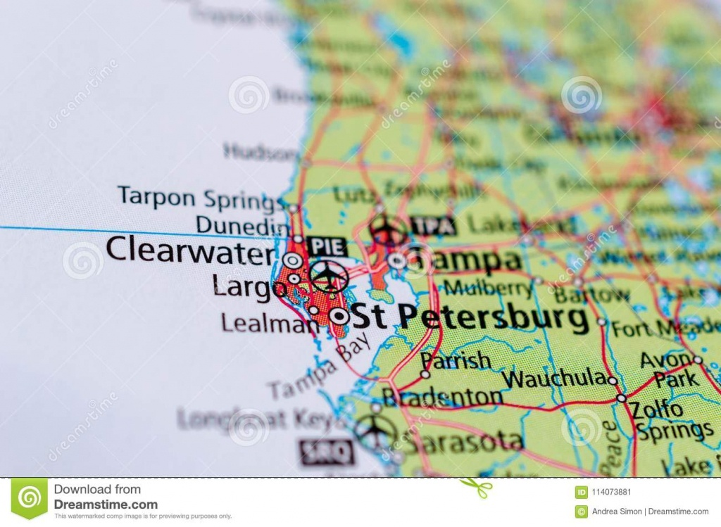 St. Petersburg, Florida On Map Stock Image - Image Of Cities, Maps - City Map Of St Petersburg Florida