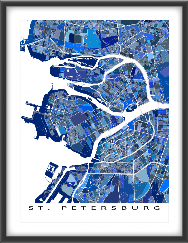 St. Petersburg Map Print, Russia | Maps Of Other Great Places - Printable Map Of St Petersburg Russia